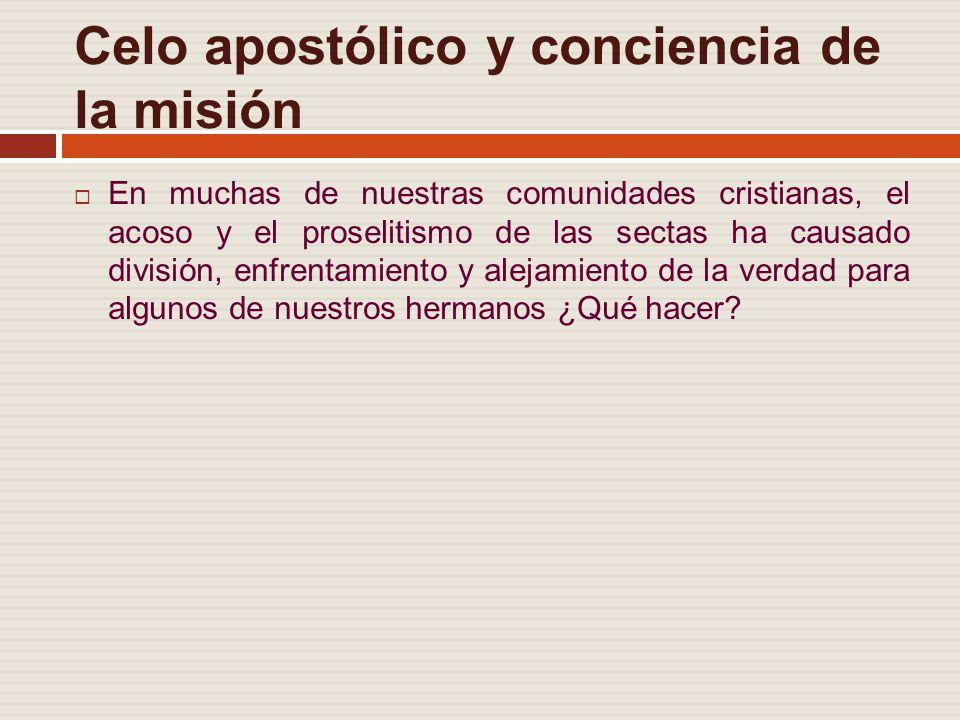 Celo apostólico y conciencia de la misión