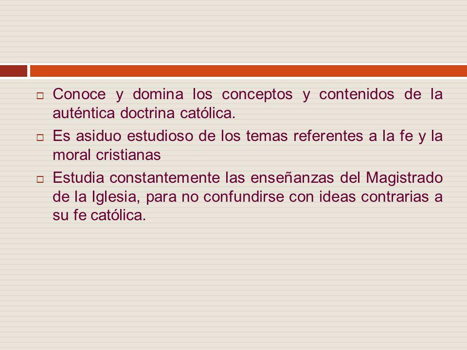 Conoce y domina los conceptos y contenidos de la auténtica doctrina católica.