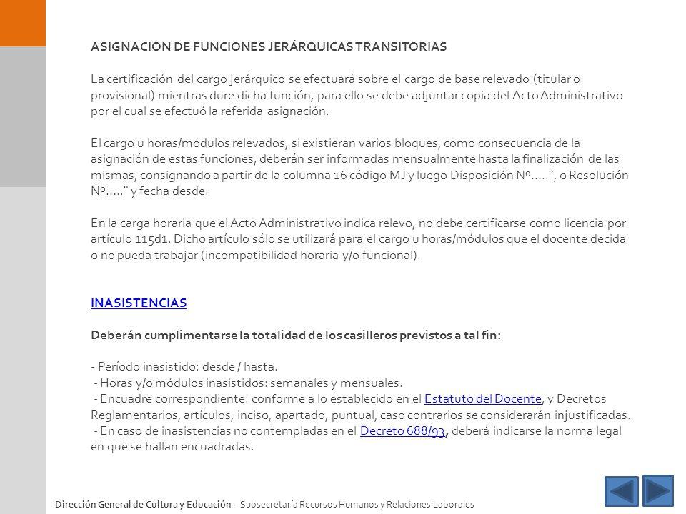 ASIGNACION DE FUNCIONES JERÁRQUICAS TRANSITORIAS