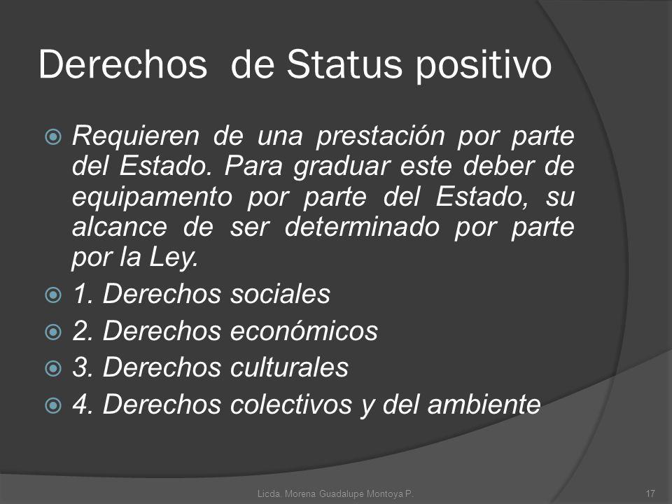 Derechos de Status positivo