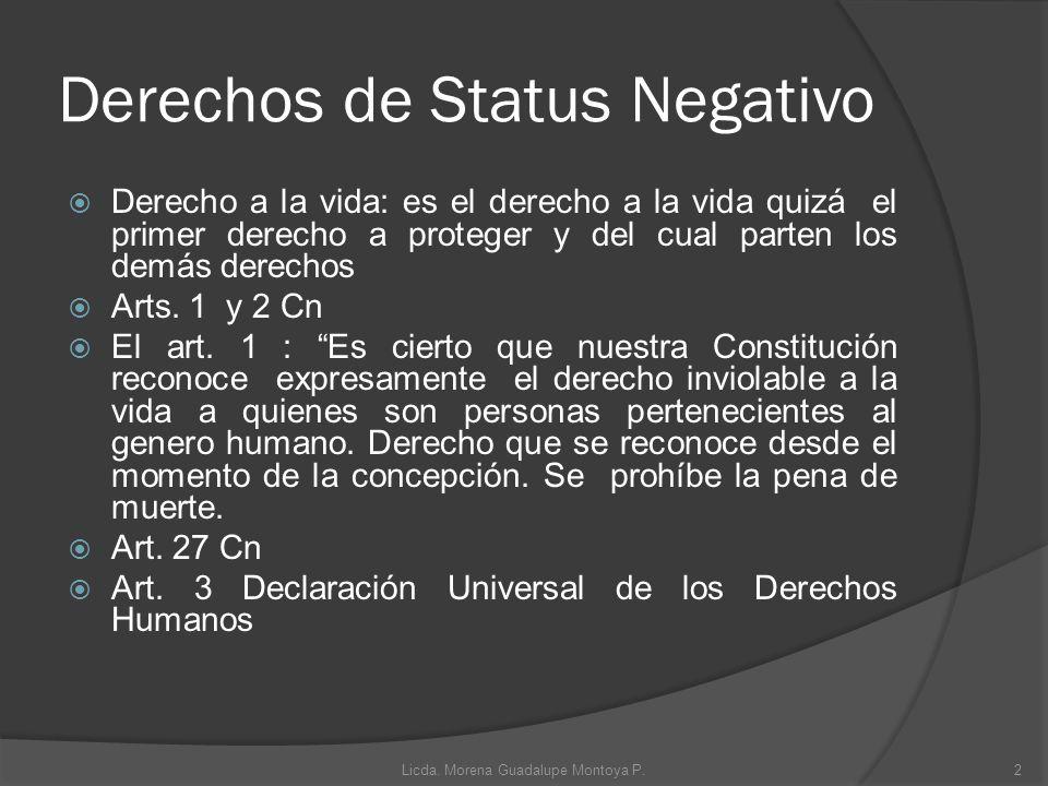 Derechos de Status Negativo