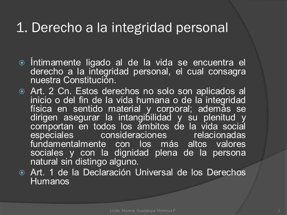 1. Derecho a la integridad personal