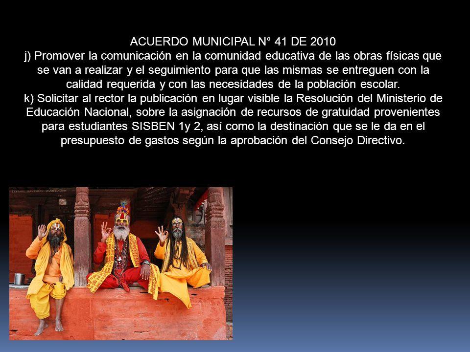 ACUERDO MUNICIPAL N° 41 DE 2010