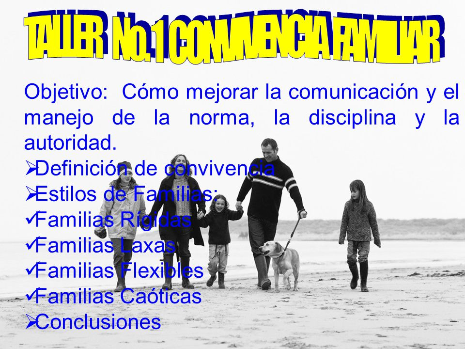 TALLER No. 1 CONVIVENCIA FAMILIAR