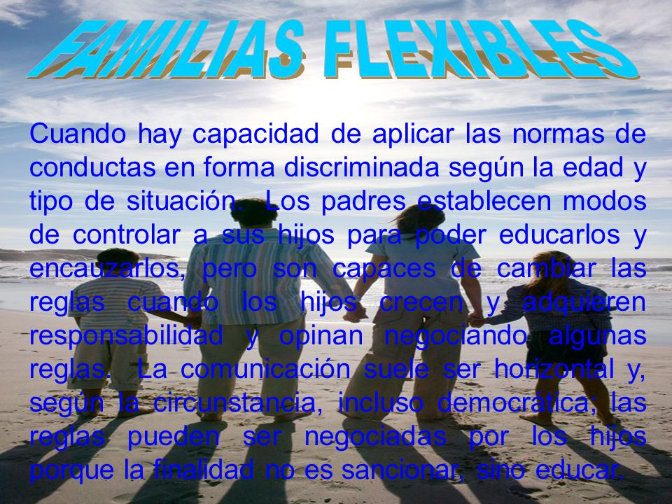 FAMILIAS FLEXIBLES