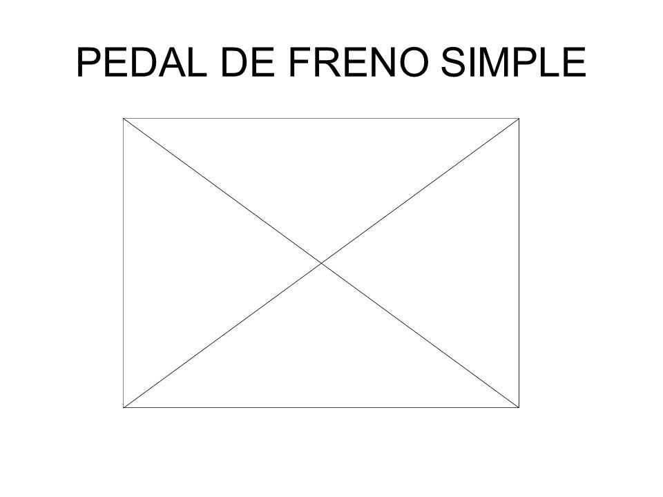 PEDAL DE FRENO SIMPLE