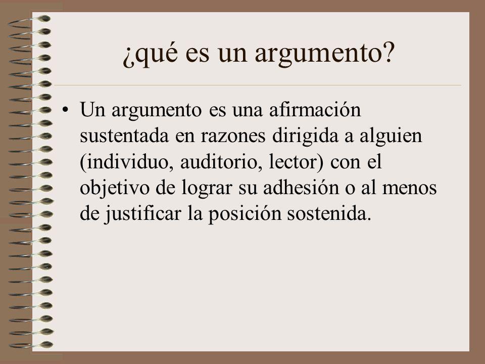 ¿qué es un argumento