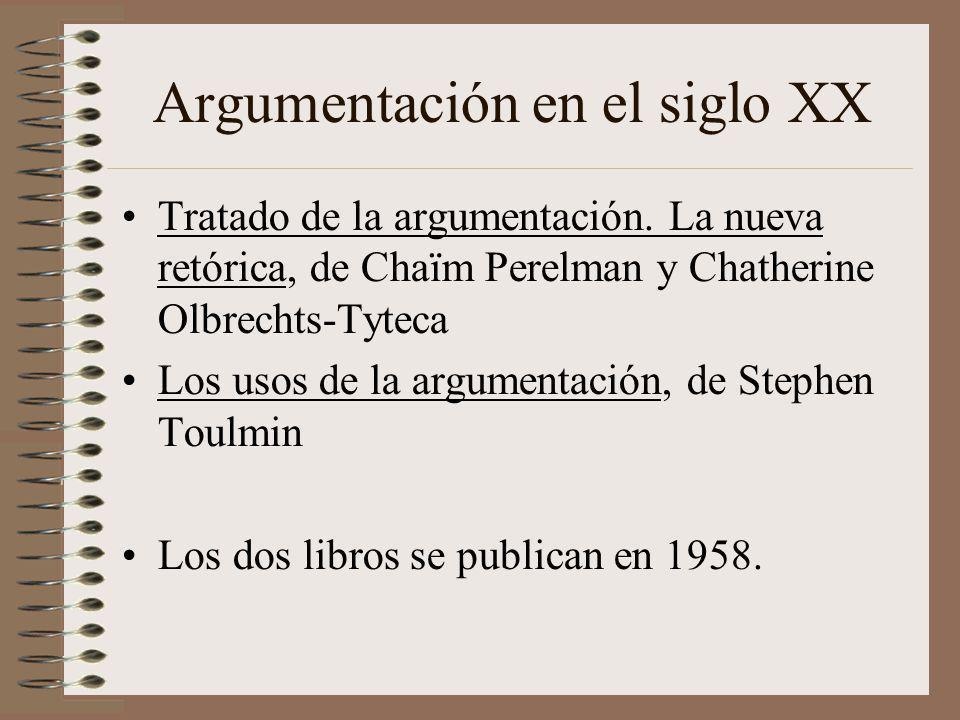 Argumentación en el siglo XX