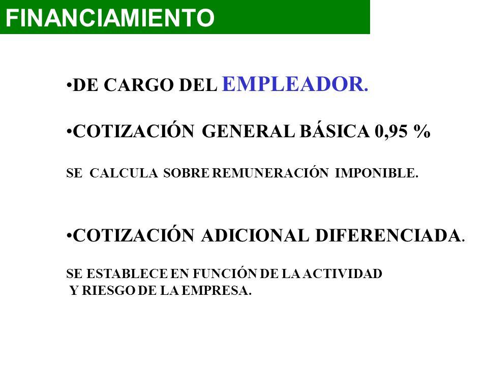 FINANCIAMIENTO DE CARGO DEL EMPLEADOR.