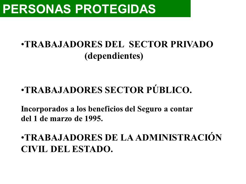 PERSONAS PROTEGIDAS TRABAJADORES DEL SECTOR PRIVADO (dependientes)