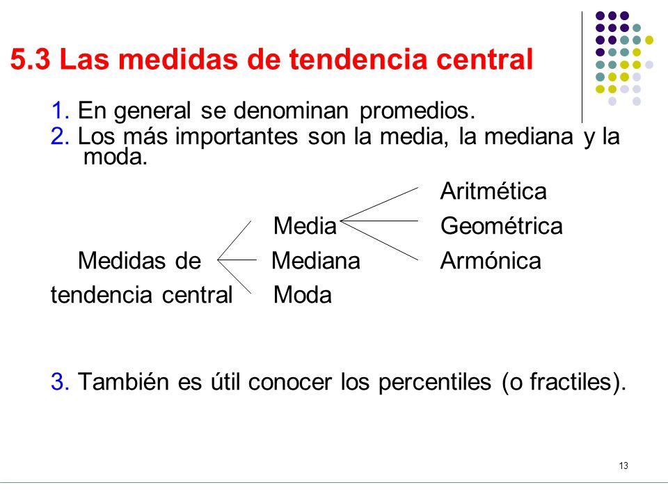 5.3 Las medidas de tendencia central
