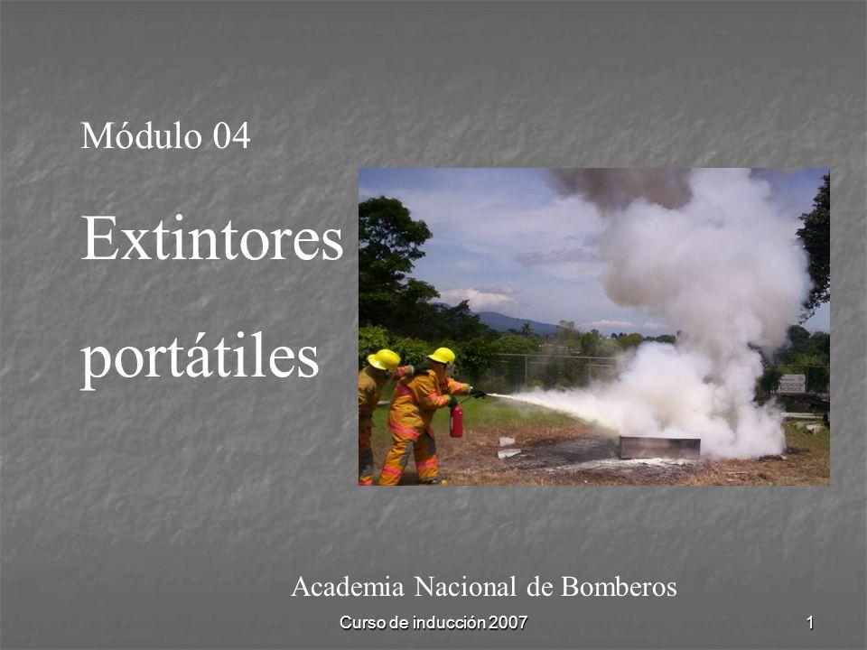 Extintores portátiles Módulo 04 Academia Nacional de Bomberos
