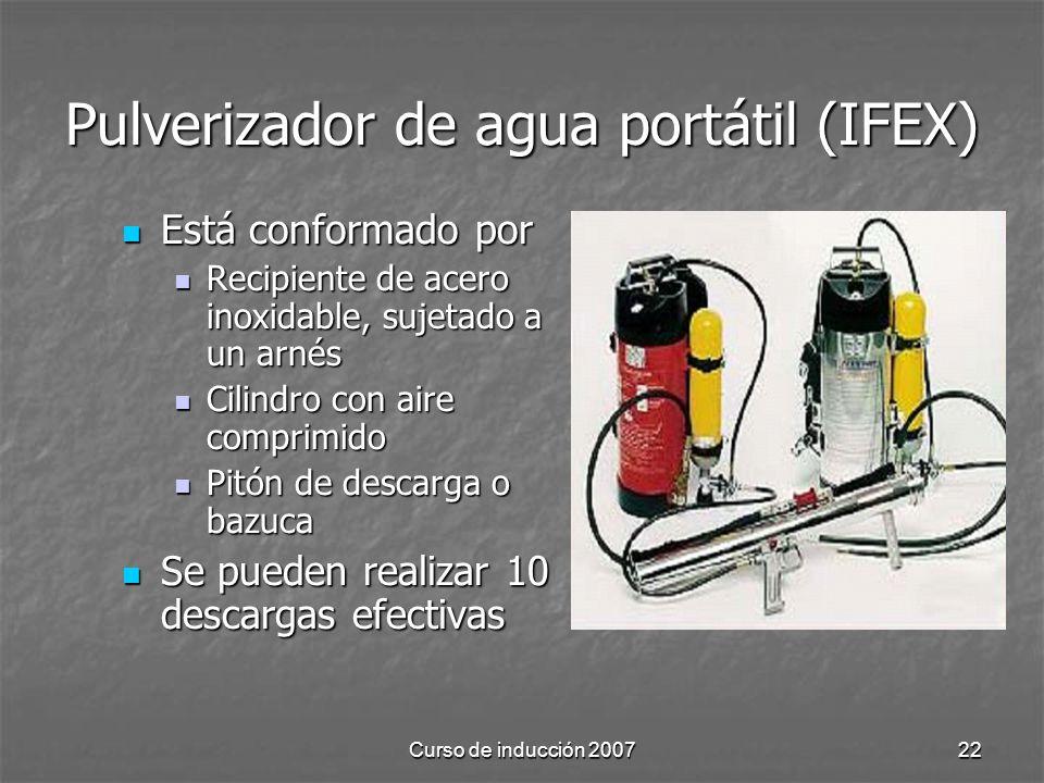 Pulverizador de agua portátil (IFEX)