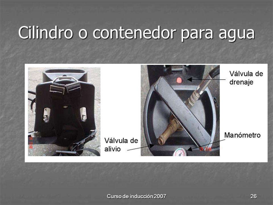 Cilindro o contenedor para agua