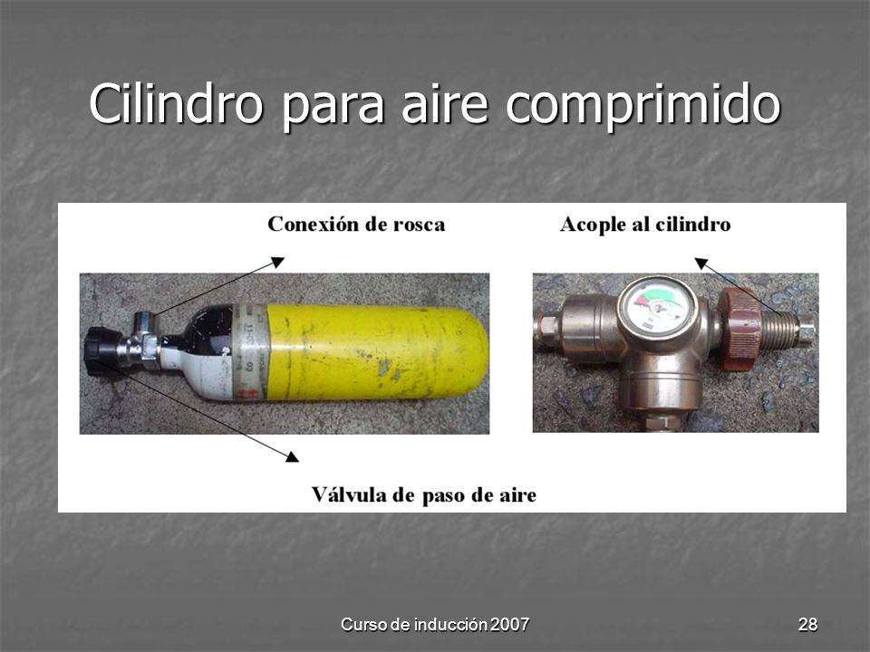 Cilindro para aire comprimido