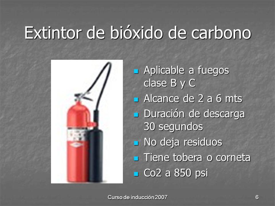 Extintor de bióxido de carbono