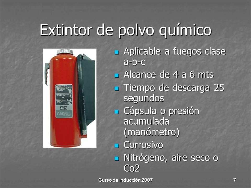 Extintor de polvo químico