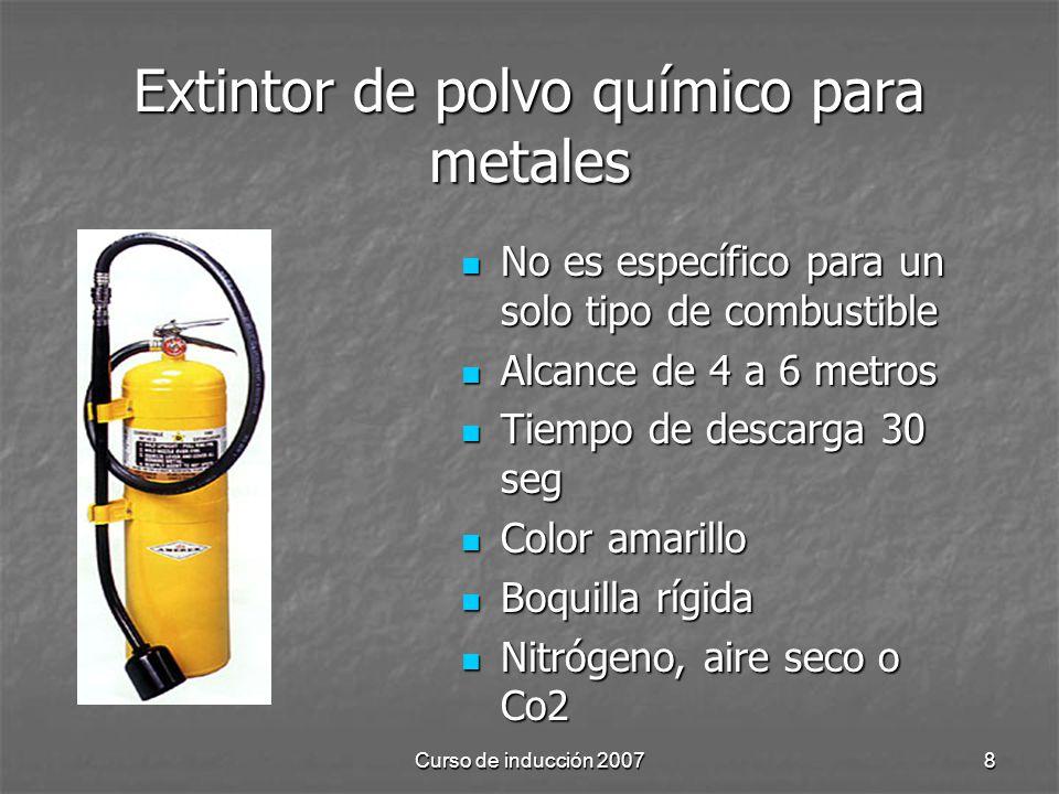 Extintor de polvo químico para metales