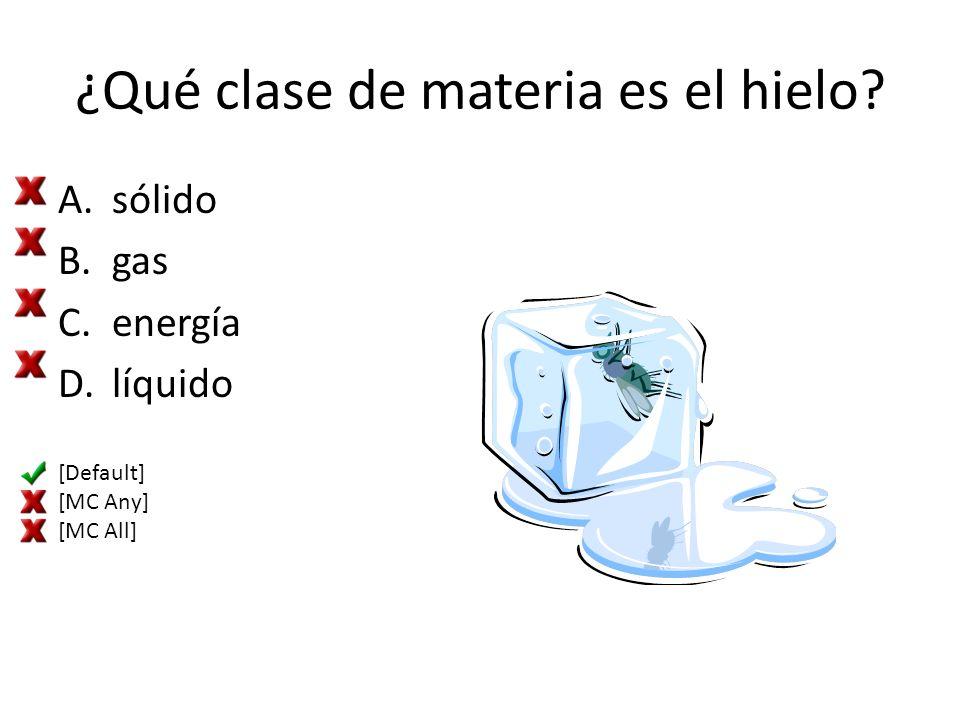 ¿Qué clase de materia es el hielo