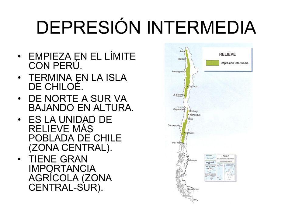 DEPRESIÓN INTERMEDIA EMPIEZA EN EL LÍMITE CON PERÚ.