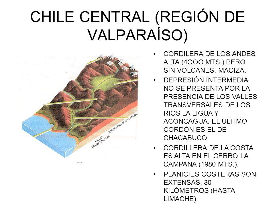 CHILE CENTRAL (REGIÓN DE VALPARAÍSO)