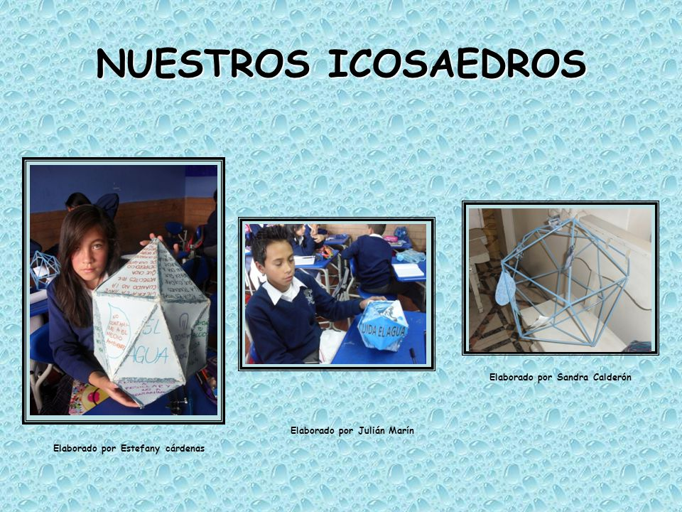 NUESTROS ICOSAEDROS Elaborado por Sandra Calderón