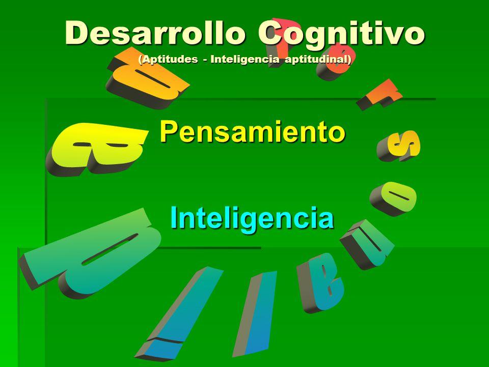 Desarrollo Cognitivo (Aptitudes - Inteligencia aptitudinal)