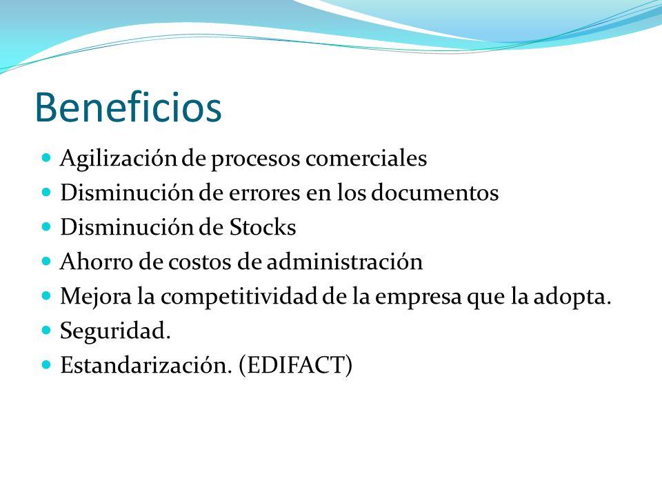 Beneficios Agilización de procesos comerciales