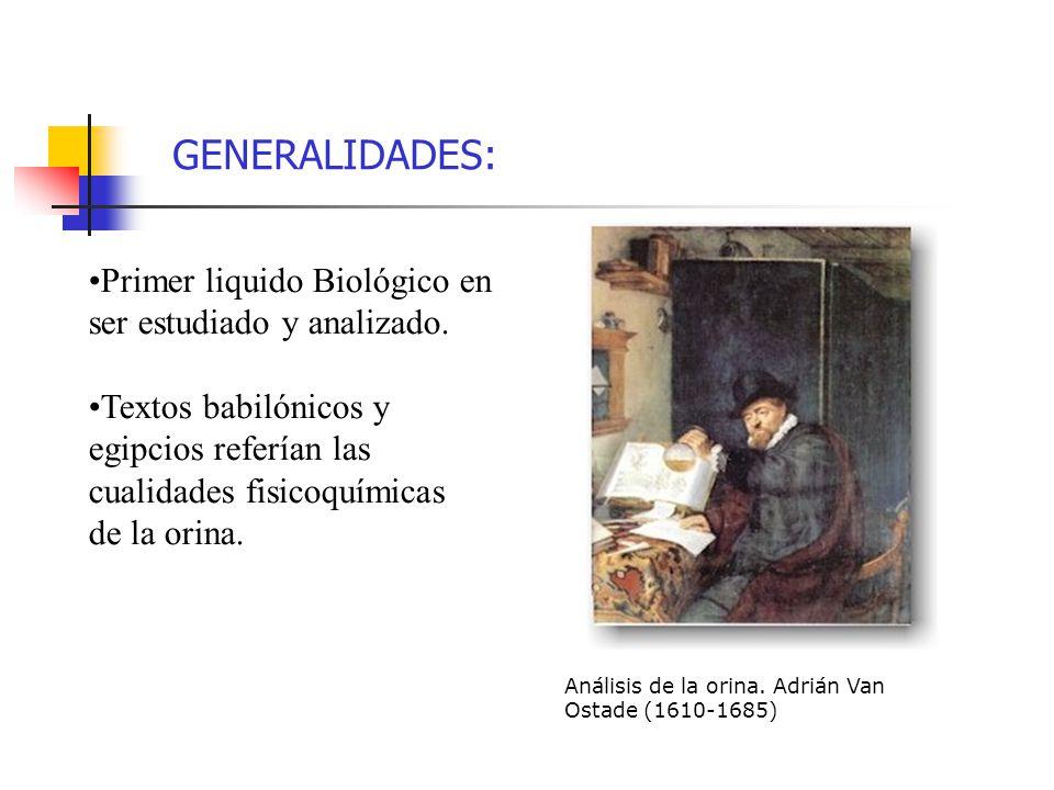 GENERALIDADES: Primer liquido Biológico en ser estudiado y analizado.