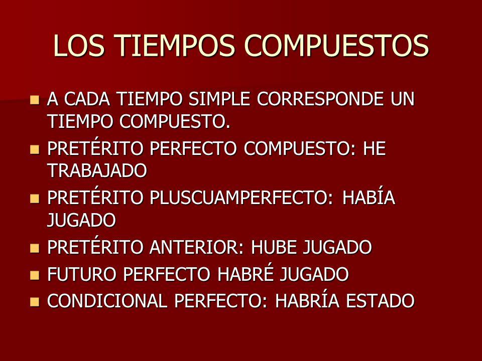 LOS TIEMPOS COMPUESTOS