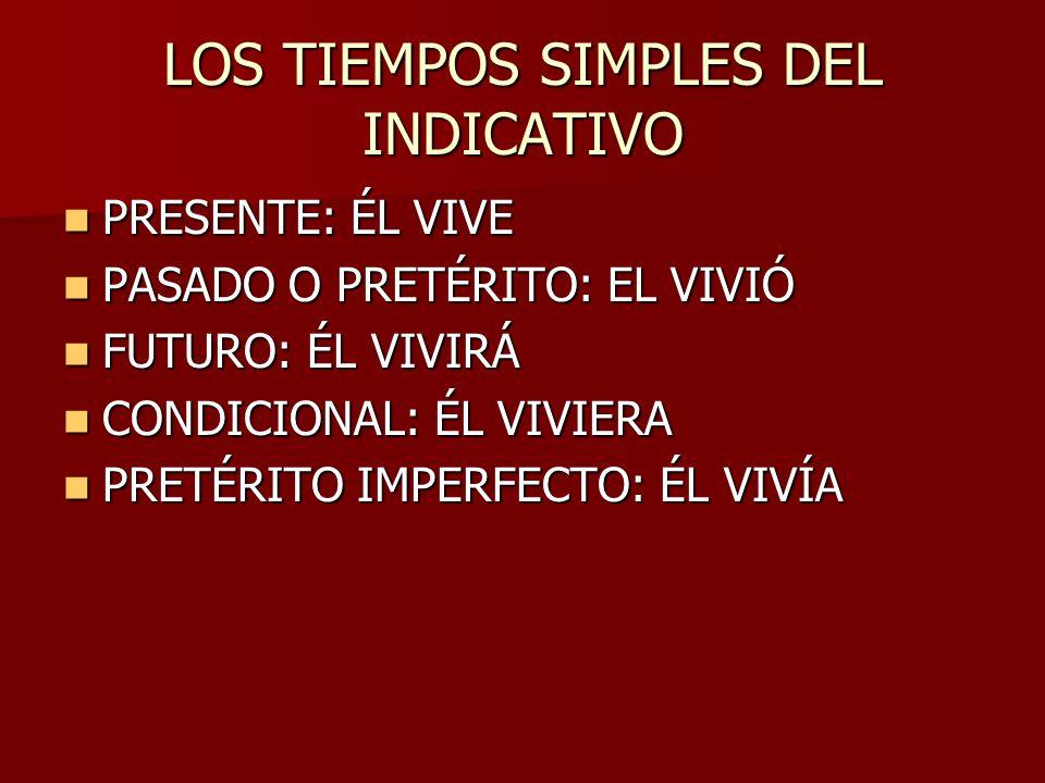 LOS TIEMPOS SIMPLES DEL INDICATIVO