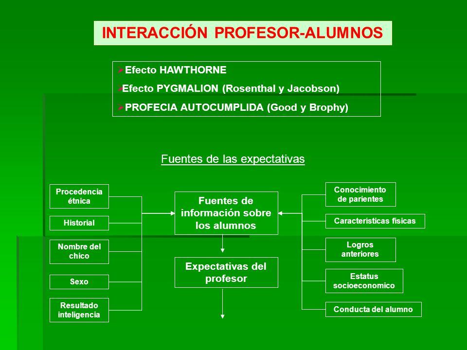 INTERACCIÓN PROFESOR-ALUMNOS