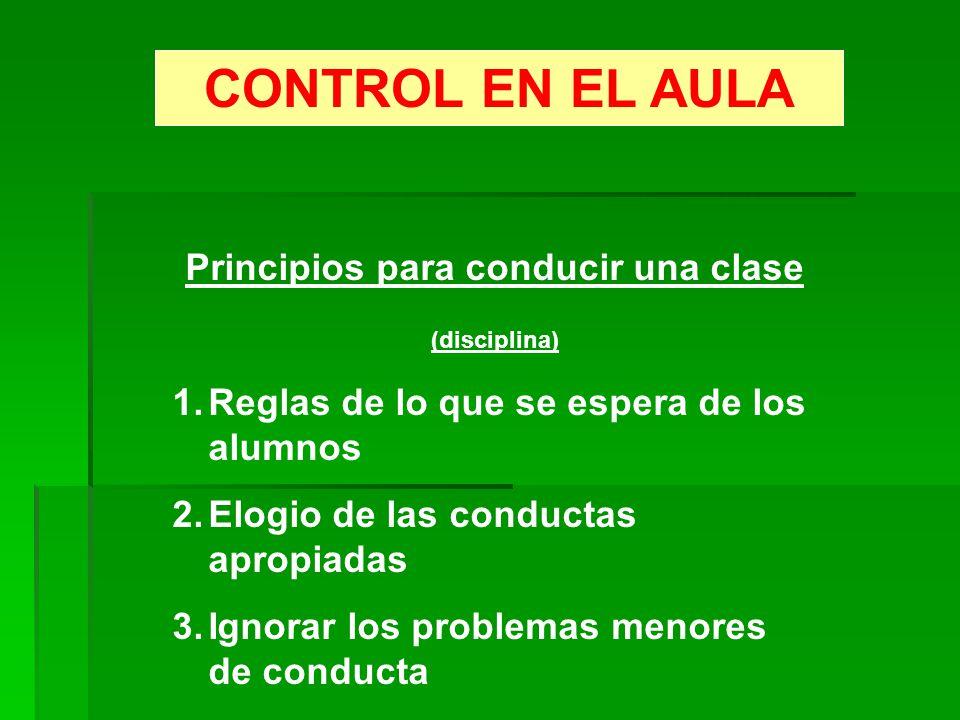 Principios para conducir una clase