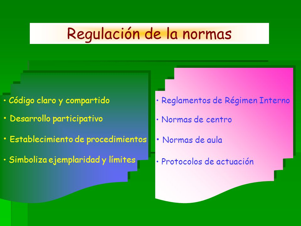 Regulación de la normas