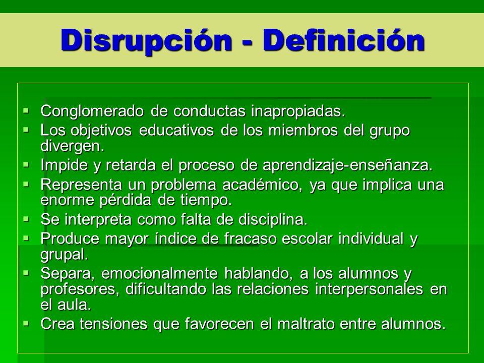 Disrupción - Definición