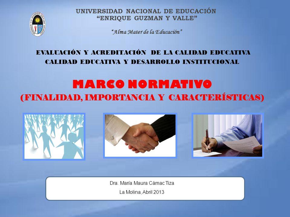 MARCO NORMATIVO (FINALIDAD, IMPORTANCIA Y CARACTERÍSTICAS)