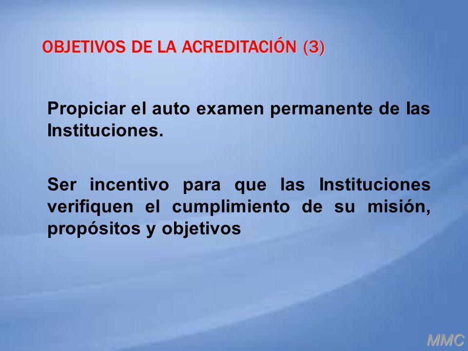OBJETIVOS DE LA ACREDITACIÓN (3)