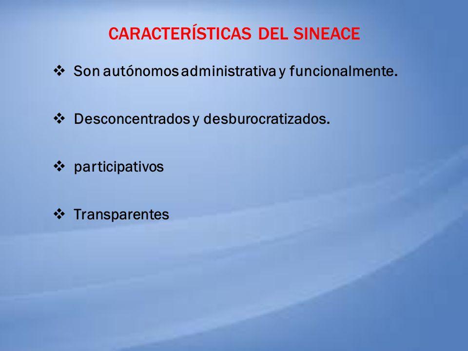 Características del sineace