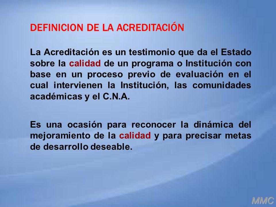 DEFINICION DE LA ACREDITACIÓN