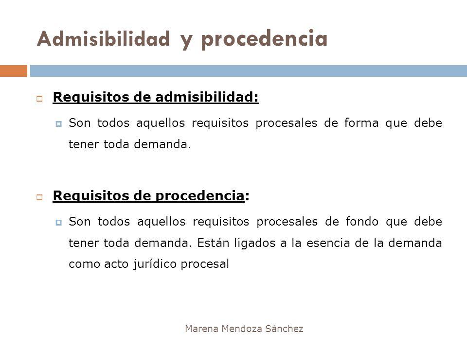 Admisibilidad y procedencia