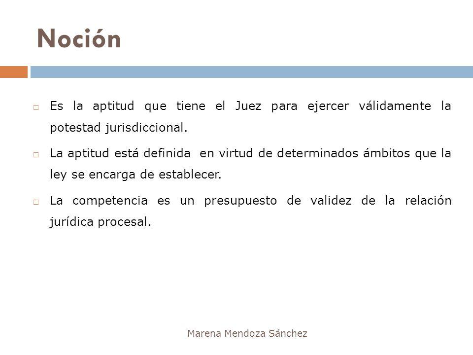 Noción Es la aptitud que tiene el Juez para ejercer válidamente la potestad jurisdiccional.