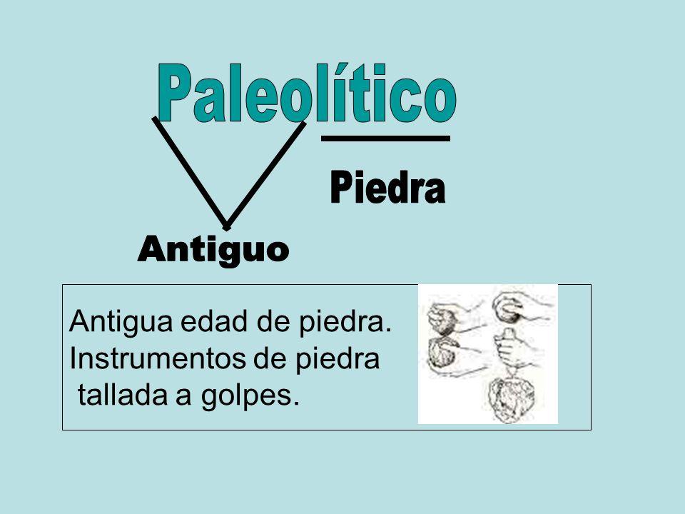 Paleolítico Antigua edad de piedra. Instrumentos de piedra