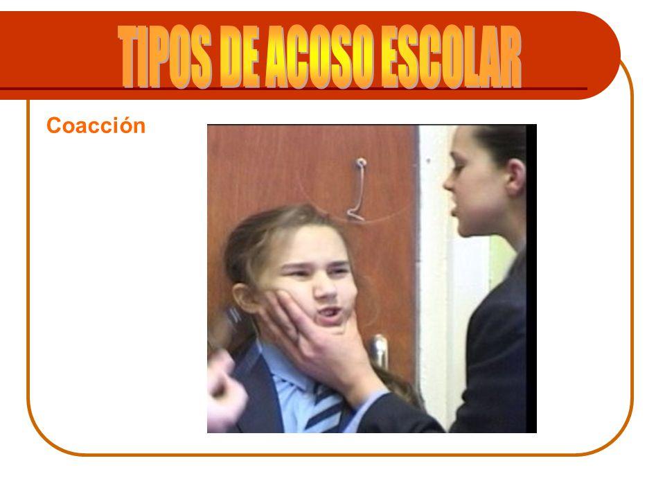 TIPOS DE ACOSO ESCOLAR Coacción