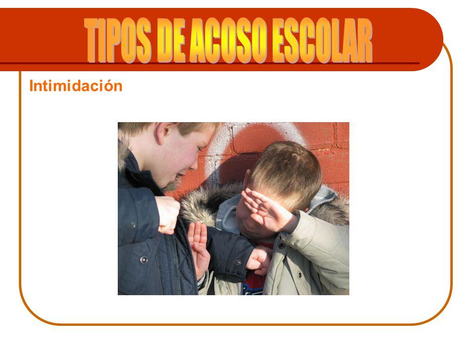 TIPOS DE ACOSO ESCOLAR Intimidación