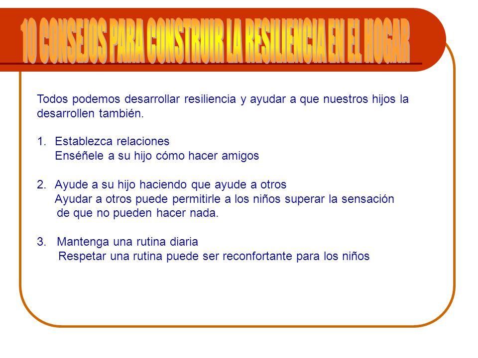 10 CONSEJOS PARA CONSTRUIR LA RESILIENCIA EN EL HOGAR