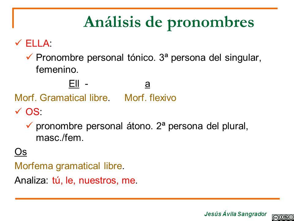 Análisis de pronombres