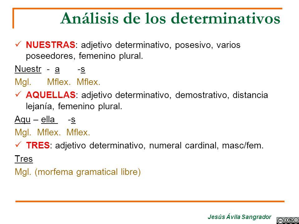 Análisis de los determinativos