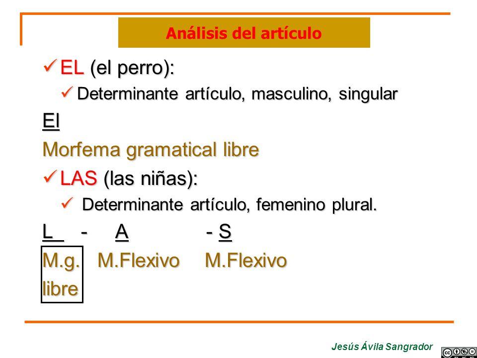 Morfema gramatical libre LAS (las niñas): L - A - S