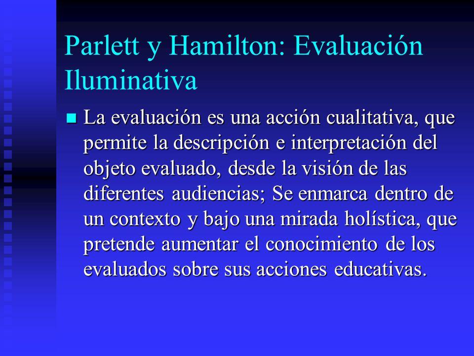 Parlett y Hamilton: Evaluación Iluminativa