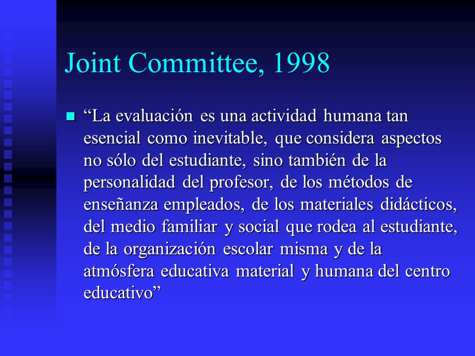 Joint Committee, 1998